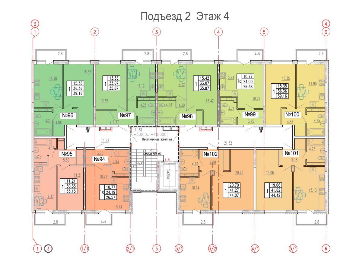 планировка 4 этажа