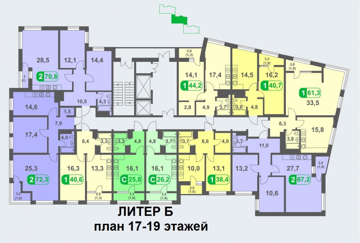 планировка 19 этажа
