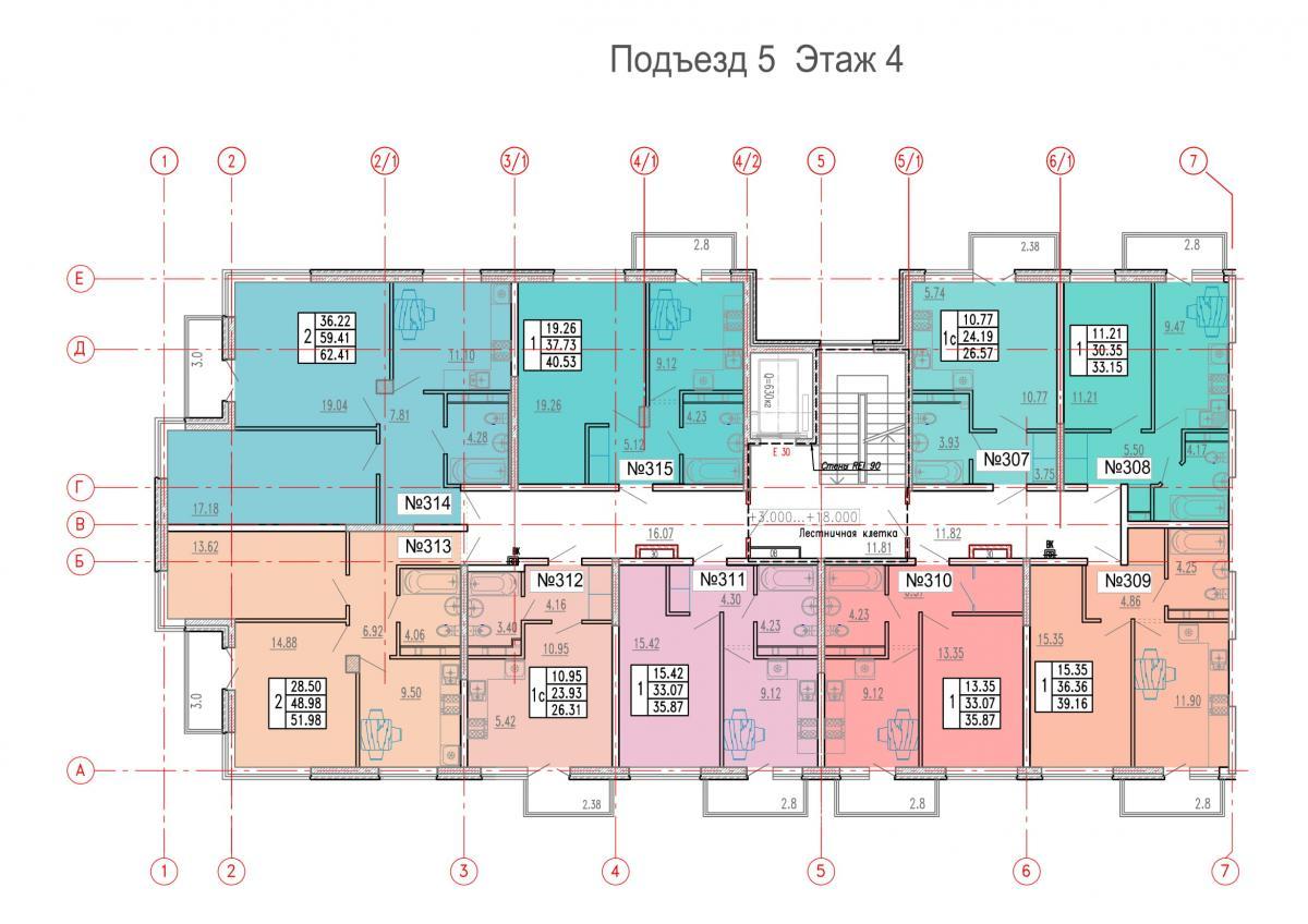 планировка 5 этажа