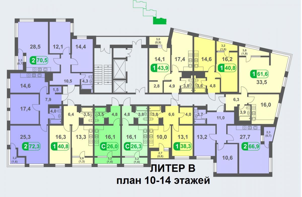 планировка 14 этажа