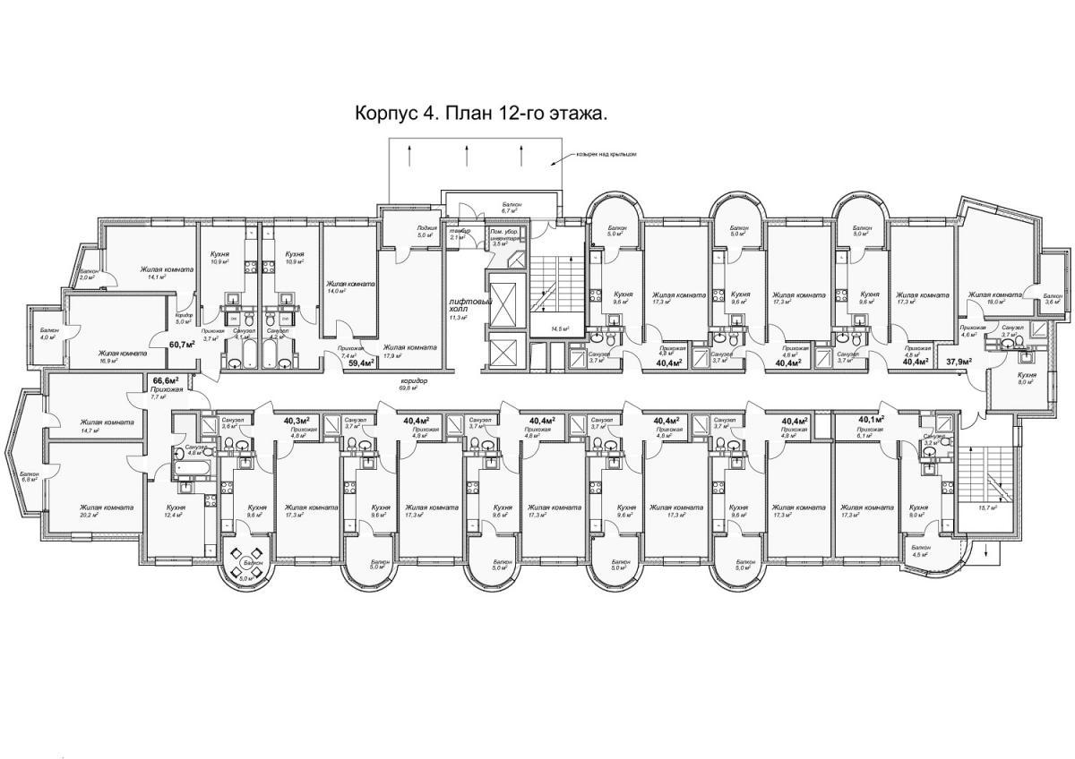 планировка 12 этажа